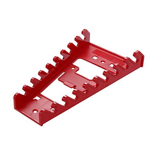 Kiorc 9 Wrench Organizer Storage Rack Sorter Box Tool Holder Rail Toolbox Drawer Tray Black
