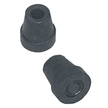 Quad Cane Replacement Tips - #16 Tips - Black
