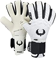 Renegade GK Eclipse Phantom Professional Goalie Gloves with Pro Fingersaves   4mm EXT Contact Grip   White &am