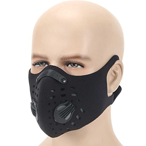 Dustproof Mask , MoHo Activated Carbon Anti Pollen Allergy PM2.5 Anti Dust Mask Half Face Ski Snowboard Bike Motorcycle Cycling - A How To Turn Snowboard