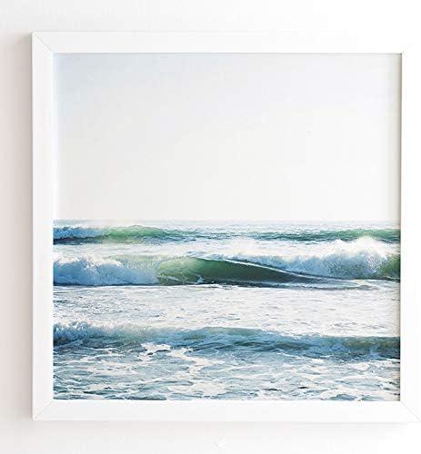 Deny Designs Bree Madden Ride Waves Wall Art 20 X 20 White Frame 61207 Frwa31 Home Kitchen