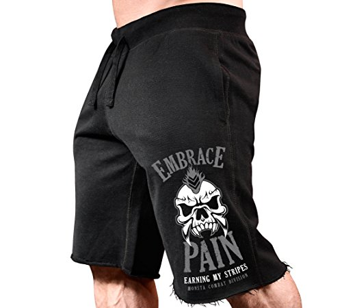 Embrace Pain: Earning My Stripes-190-SweatShorts Black/Grey 2XL