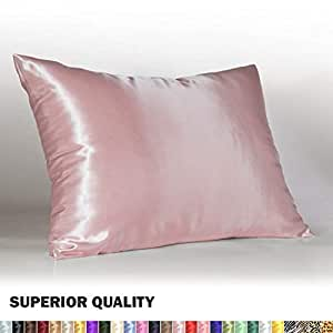 Amazon Com Luxury Satin Pillowcase W Hidden Zipper