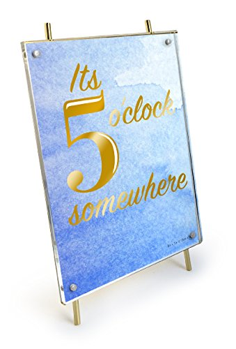 Isaac Jacobs 5x7 Gold Magnetic Acrylic Metal Easel Frame (5x7 Vertical) - Jacobs Gold