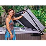 The Cover Guy - Hydraulic Hot Tub Cover Lifter - Opens Easily With One Hand - Spa Cover Lift - Strong & Compact - Improve Your Hot Tub Experience - Fits up to 96x96 Inch - 1-Year Warranty