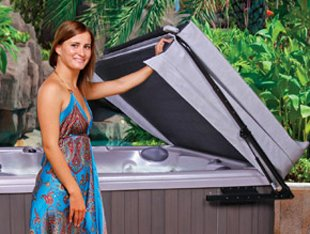 The-Cover-Guy-Hydraulic-Hot-Tub-Cover-Lifter-Opens-Easily-With-One-Hand-Spa-Cover-Lift-Strong-Compact-Improve-Your-Hot-Tub-Experience-Fits-up-to-96x96-Inch-1-Year-Warranty