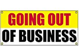 Going Out Of Business Banner Retail Store Shop Business Sign 36'' By 15'' Store Closing
