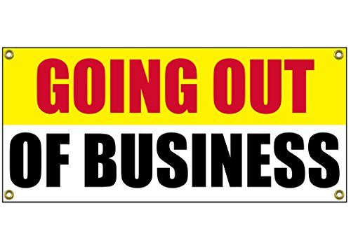 Going Out Of Business Banner Retail Store Shop Business Sign 36