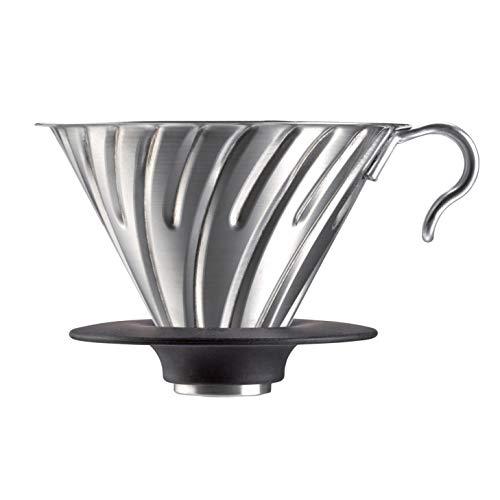 Hario V60 Metal Coffee Dripper, Size 02, Silver