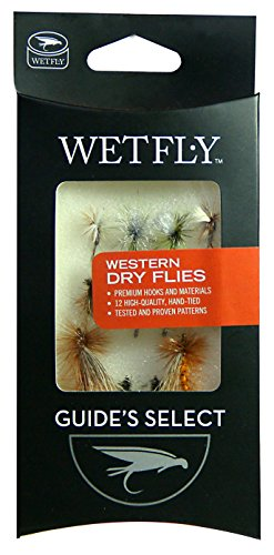 Wetfly Western Dry Fly Selection, 1 doz Flies (Blue Winged Olive Parachute)