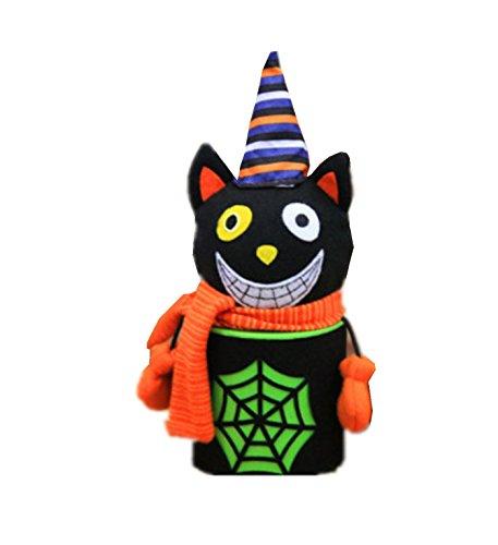 micrkrowen Halloween Creative Black Cobweb Spooky Candy Jar