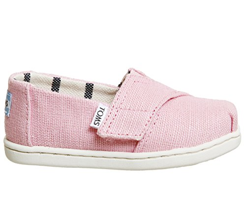 TOMS Kids Baby Girl's Venice Collection Alpargata (Infant/Toddler/Little Kid) Powder Pink Heritage Canvas 10 M US Toddler ()