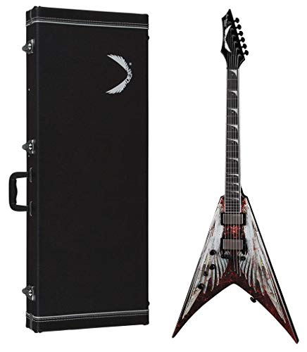 Dean Guitars 6 String Dean V Dave Mustaine Electric Guitar - AOD w/Case Lefty, Angel Of Deth Graphic (VMNT L ()