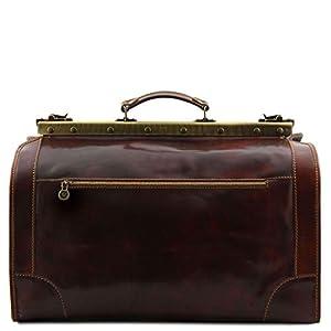 Tuscany Leather Madrid Gladstone Leather Bag – Large Size Black