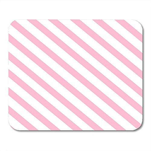 Nakamela Mouse Pads Abstraction Lemonade Pink Stripes on Th White of Lines Blush Band Mouse mats 9.5