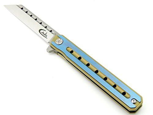 Canku C225 Pocket Knife D2 Steel Blade TC4 Titanium Alloy Handle Knife Camping Outdoor EDC Tool Folding Knives by Canku (Image #1)