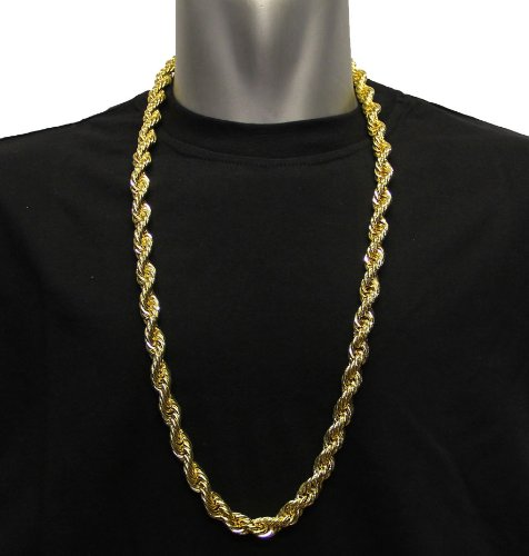 Hip hop goldkette  RUN DMC DOOKIE HIP HOP KETTE, KETTE 18 KARAT VERGOLDET, EDELSTAHL ...
