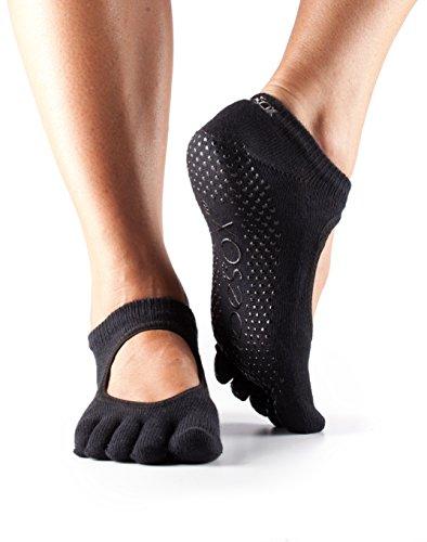 Socks Toesox Bella Toe Full Black Grip 6r68I