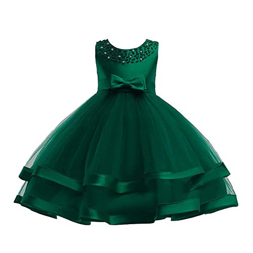 COMISARA Toddler Baby Girls Bridesmaid Dresses Little Kids Birthday Prom Pageant Wedding Party Performance Fancy Formal Princess Ball Gown Dress Size 18M 24M (Green 90)