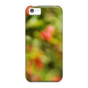 Iphone 5c Case, Premium Protective Case With Awesome Look - Christmas Mood Plant Macro