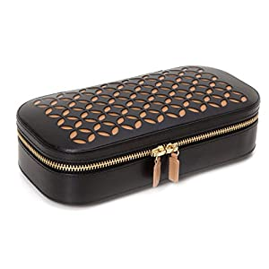 WOLF 301202 Chloe Zip Jewelry Case, Black