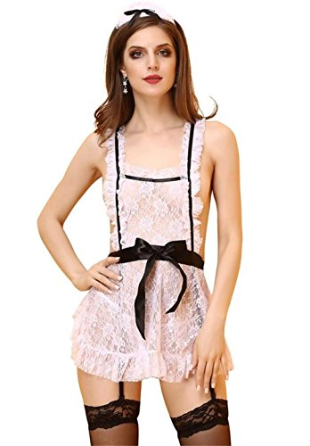 Plus Size Halloween Customes (Bnice Womens Lace Sexy Custome Transparent Sleepwear Halloween Lingerie Set)