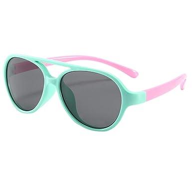 Gafas de sol flexibles de goma polarizadas para niños para niñas de 3 a 12 años de edad,Logobeing TPEE Gafas de sol polarizadas elásticas flexibles ...