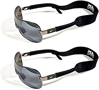 product image for Croakies Original XL Extra Large Neoprene Elastic Eyeglass and Sunglass Retainer / Strap, Black (2 Pack)