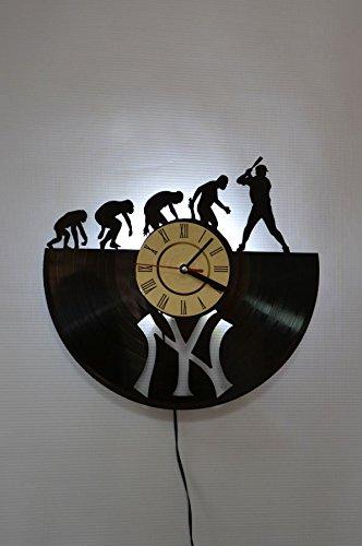Amazon Com Nice Stuff Only Baseball Wall Light Clock Original