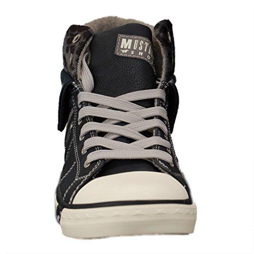 Mustang Hautes Bleu Femme Sneakers 1209501 FOngqwxpFr