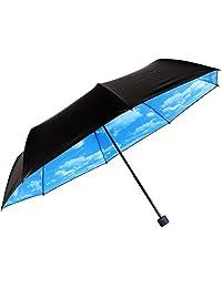 Amigo Compact Folding Travel Umbrella Sky Style Sky Pattern Inside