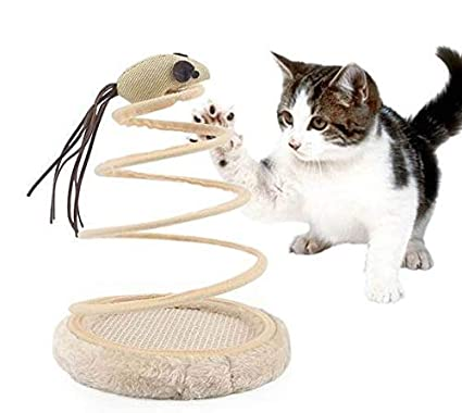 DIVAND Moda Gato Juguete Divertido Gato ratón Juguete, Gato rasguño Tablero Felpa Juguete Primavera ratón