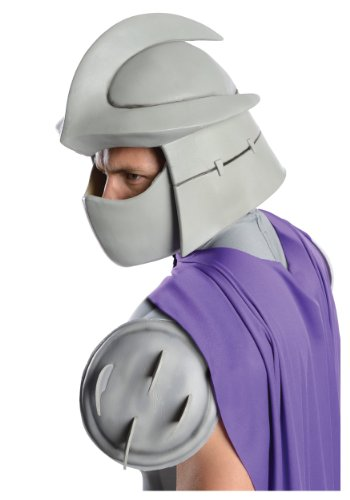 Nickelodeon Ninja Turtles Adult Shredder Overhead Latex Mask, Gray, One -