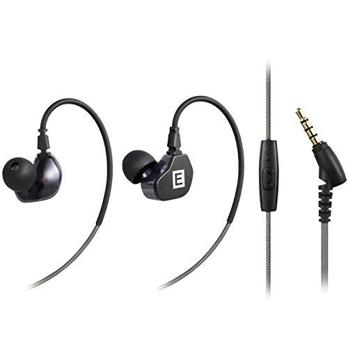 MAGENTA Sports Headphones In-Ear Stereo Earphones Earphones Noise Reduction with Microphone, Camera Headphones (Black
