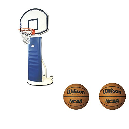 Bison Portable Playtime Basketball Standard w/ 2-Pack of Wilson NCAA Basketballs by Bison, Inc