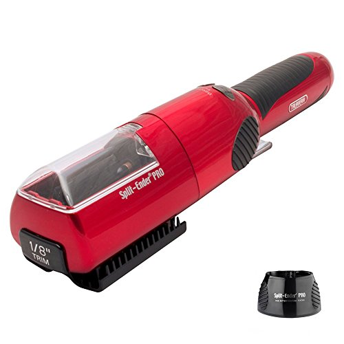 (Split-Ender Pro Cordless Split End Hair Trimmer with Charging Base by Talavera (Red))