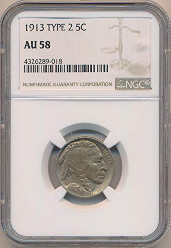 1913 P Buffalo Nickel Nickel AU58 NGC