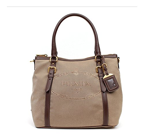 Prada Canvas and Soft Leather Shoulder Bag - Rope / - Shoulder Prada Handbag