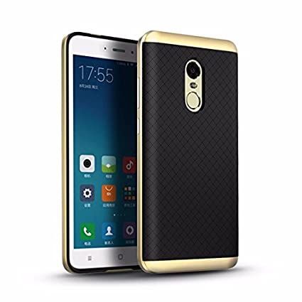 Original Ipaky Shockproof Case Silicone Soft Back + Plastic Hard Bumper for Xiaomi Redmi Note 4  Golden Mobile Phone Cases   Covers