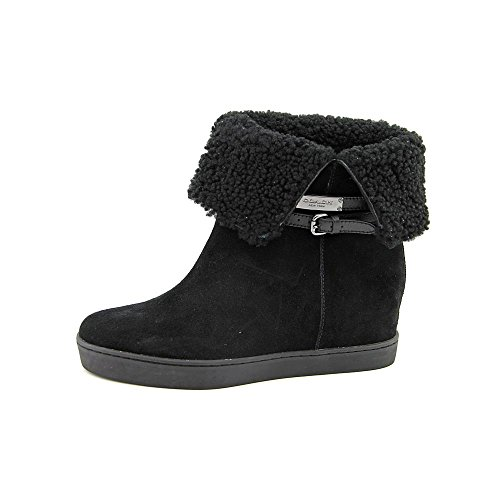 Boot Shearling Size Snow Mujeres 10 Black Norell Coach US Suede q4STnX