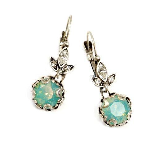 Sweet Romance Cushion Cut Jewel Earrings (Pacific -