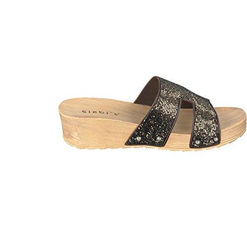 Siebi's COMO Chanclas Para La Piscina Playa Zapatillas Mujer Marrón