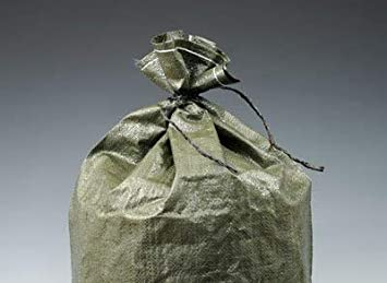 Yellow 18 x 26 Woven Polypropylene Sandbags with Attached Tie-String 100 Bags - AB-30-2-164