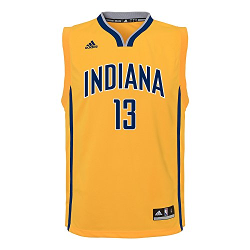 NBA Youth 8-20 Indiana Pacers George Replica 2nd Alternate Jersey-Gold-L(14-16) (Jersey Alternate Pacers)