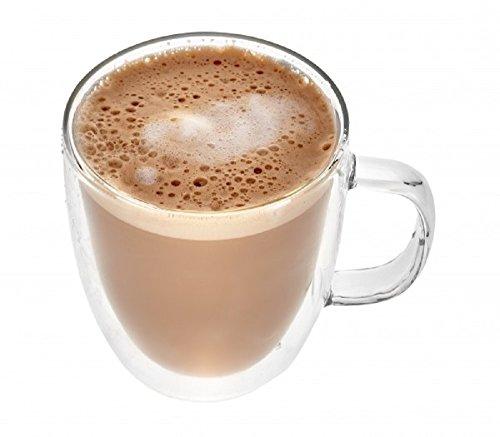 Gmark Large Coffee Mugs Set of 2 (12 oz, 350 ml), Double Wall Tumbler Glass Cup, Insulated Coffee Cups for Tea, Latte, Espresso, Juice, or Water GM2029 - Coffee Giants Set Mug