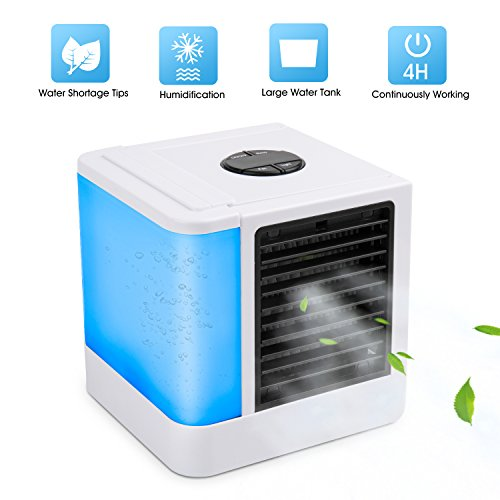 VANTAKOOL Personal Space Air Conditioner, 1 Mini USB Personal Space Air Cooler, Humidifier, Purifier, Desktop Cooling Fan for Office Household Outdoors (0.2 Units)