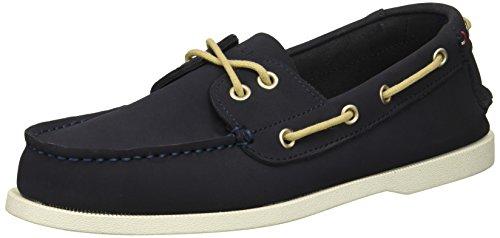 Tommy Hilfiger Men's Bowman Shoe, Dark Blue Leather, 11.5 Medium US