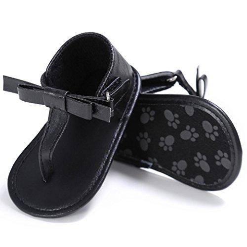 De Niñas Nacidos Antideslizante Verano Suave Para Negro Con Fossen Bebe Chancletas Recién Suela Zapatos Sandalias t4nqUS