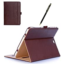 ProCase Samsung Galaxy Tab S2 9.7 Case - Leather Stand Folio Case Cover for Galaxy Tab S2 Tablet (9.7 inch, SM-T810 T815 T813) -Brown