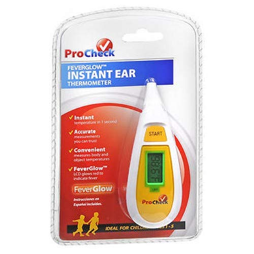 Procheck Procheck Feverglow Instant Ear Thermometer, 1 each (Pack of 3)